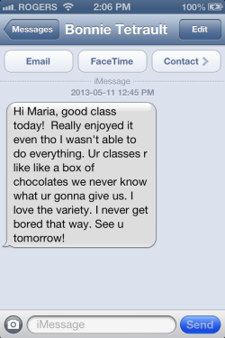 Box of Chocolates text