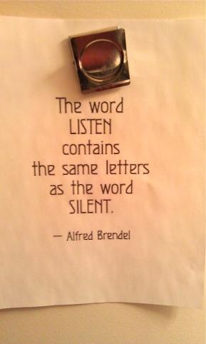 listen = silent