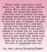 eat pray love | soulmate
